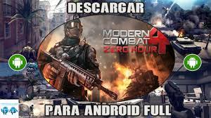 modern combat zero hour apk modern combat 4 zero hour apk datos sd mega 2015