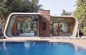 Building A Pool House Mobius Architecture U0027s Modern Edge House Is Ringed By A Green