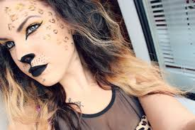 leopard halloween makeup ideas cheetah makeup easy mugeek vidalondon