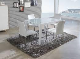 table de cuisine en verre trempé table de salle à manger rectangulaire avec rallonge lisbonne laquée