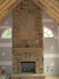 outdoor stacked stone fireplace cost on with hd resolution