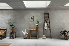 concrete interior design concrete walls interior trend in a scandinavian home tour