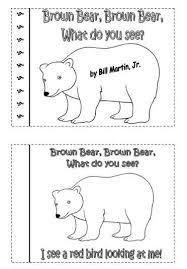 brown bear minibook adapting classes