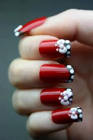 8 best red nails images on pinterest french manicures french