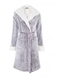 dressing gown womens purple fluffy dressing gown peacocks