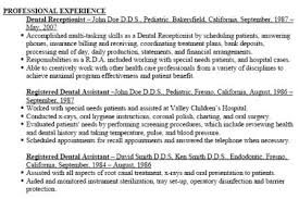 Resume Examples For Dental Assistants by Dental Assistant Resume Objective Examples Reentrycorps