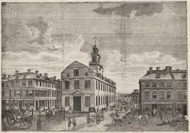 view of the old state house from washington street 1791 digital