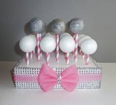 Where To Buy Pink Cotton Candy Cotton Candy Pink Tulle Bow Paper Straw Cake Pop Stand