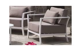 salon haut de gamme salon de jardin taupe et aluminium blanc haut de gamme
