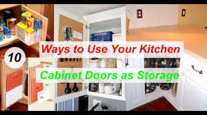 10 ways to use your kitchen cabinet doors as storage youtube