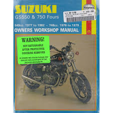 haynes suzuki gs550 gs750 repair manual 363 motorcycle dennis