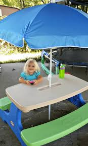 little tikes easy store picnic table little tikes easy store picnic table with umbrella utrails home