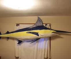 fish wall mounts how to build your own giant blue marlin on the cheap 7 steps