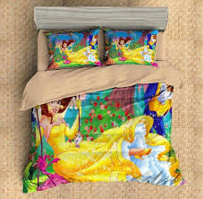 customize beauty and the beast 4pcs 3d duvet cover set bedding set