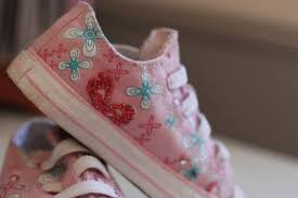 How To Decorate Shoes Diy Beaded Tennies Think Crafts By Createforless
