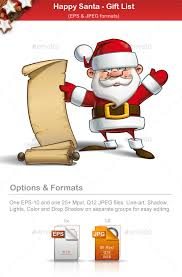 santa gift list happy santa gift list by gnazlis graphicriver