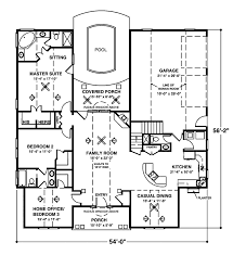 one story house plans home office