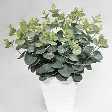 20 heads bouquet silk eucalyptus plant household decorations