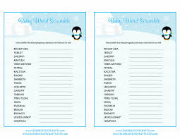 Download Baby Shower Games Word Scramble Baby Shower Game Winter Baby Shower Theme For Baby