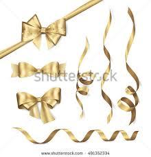 ribbons and bows vector set shiny golden ribbons bows stock vector 491352334