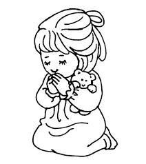 praying coloring pages kids cua printable girls
