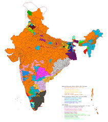 South India Map by Indian Election Results Map South Asia Blog