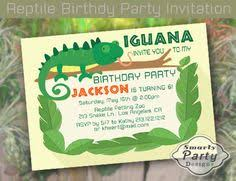 reptile birthday party invitation by eventfulcards on etsy