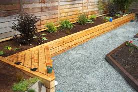 Cedar Raised Garden Bed I Wonder If We Could Work A Bench Into The New Garden If Hinged