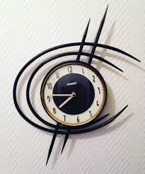 Minimalistic Wall Clock by 1960 Vintage Awesome French Modernist And Minimalist Wall Clock