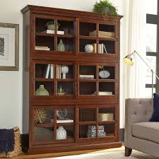 Bookcase With Sliding Glass Doors by Charlotte Stackable Bookcase With Glass Door 3 Pack