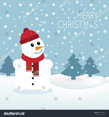 snowman christmas greeting card snowman can stock vector 346436870