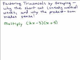 factoring trinomials help video in high math algebra