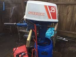 suzuki dt 25 hp short shaft boat outboard engine in ivybridge