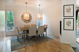 contemporary dining room with pendant light u0026 high ceiling in eads