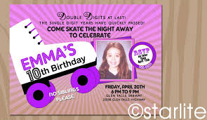 10th birthday invitation wording a birthday cake