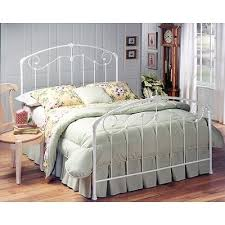 cottage style white full metal canopy bed maddie rc willey