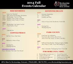 summit and park county fall 2014 event calendar