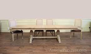 trestle table with leaves seats 12 blonde bleached finish