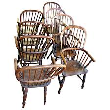 Windsor Dining Room Chairs 18th Century Set Of Eight High Back Windsor Dining Chairs With