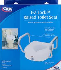 carex ez lock raised toilet seat elevator with adjustable and