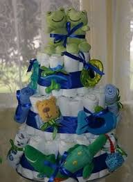 double trouble diaper cake for twin boys diaper cakes