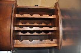 rv wine rack idea from timeless travel trailers