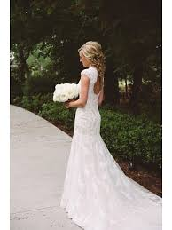 key back wedding dress v neck key button back lace wedding dress