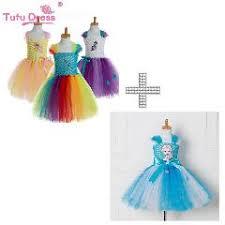 Rainbow Dash Halloween Costume Bride Frankenstein Tutu Dress Halloween Costume Girls