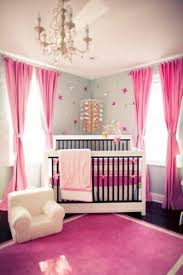 Pink And Gray Curtains Area Rugs Awesome Baby Girl Nursery Room With Pink Curtains And