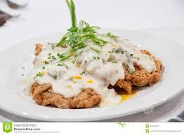 gourmet chicken fried steak stock photo image 40019510