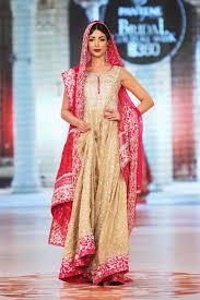 indian bridal wedding anarkail suit in beige u0026 pink bridal