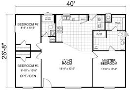 Three Bedroom House Floor Plans Home 28 X 40 3 Bed 2 Bath 1066 Sq Ft Little House On The