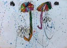 rainy day umbrellas watercolour splatter may 2013 hannah u0027s