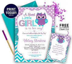 baby shower invitations for purple teal girl owl baby shower invitation adly invitations and